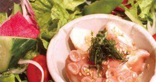 舞阪産水ダコと浜松高原野菜のサラダ